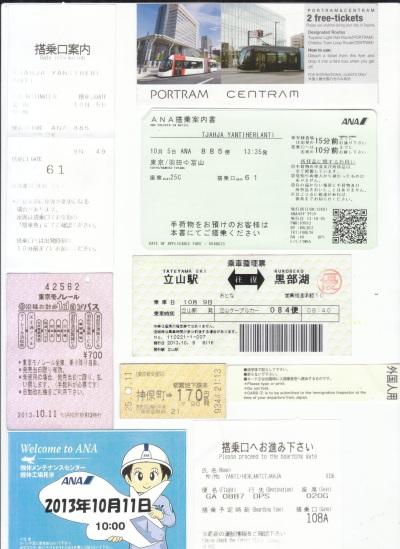 Tiket Pesawat, Shinkazen, Kereta Api, Term, Tiket masuk Musium, Tateyama Alphine Route, dan Tag ANA, termasuk Bagasi saat pulang dari Jepang