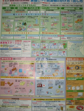 Gambar 1. Cara Memilah Sampah di Toyama