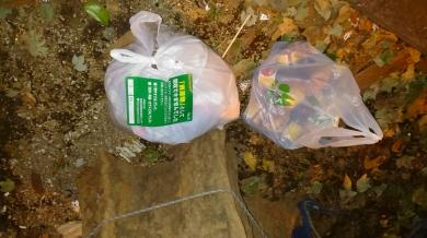 Gambar 4. Sampah ditandai dan dikembalikan karena salah memilah atau tidak sesuai jadwal jenis pembuangan sampah